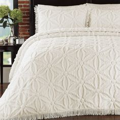Lamont Home Arianna Bedspread, Twin, Ivory