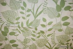 R88 Graphic Leaf Floral Green Leaves Ferns Nature Wildlife Cotton fabric Quilt fabric