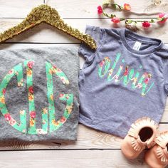 Hey, I found this really awesome Etsy listing at https://www.etsy.com/listing/226632571/mommy-and-me-monogram-floral-chic-circle