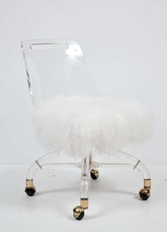 Lucite And Brass Swivel Chair By Charles Hollis Jones