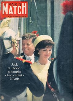 No broadcast of Jackie's voice was heard on her triumphant visit to Paris but European magazine photos captured her every gesture for the world to study. Jacqueline Kennedy Onassis, John F Kennedy, People Magazine, Life Magazine, Paris Match, John Fitzgerald, Triomphe, Vintage Magazines, Top Of The World
