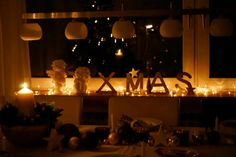 Tischdeco, Weihnachten
