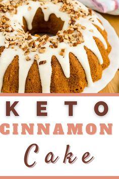 Healthy Cake Recipes, Low Sugar Recipes, No Sugar Foods, Keto Recipes, Healthy Snacks, Cinnamon Swirl Cake, Cinnamon Cake Recipes, Coconut Flour Cakes, Baking With Almond Flour