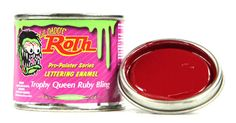 lil daddy roth pinstriping paint trophy queen ruby bling enamel hotrod lettering #lildaddyroth