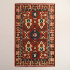 One of my favorite discoveries at WorldMarket.com: Rustic Red Hooked Wool Amelia Area Rug