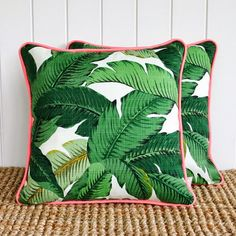 Dress up your deck with these tropical cushions.