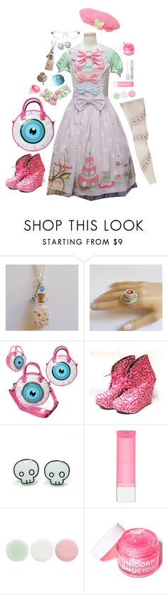 """""""Zombie Tea Party"""" by m-bot ❤ liked on Polyvore featuring Q-Pot, Rimmel, Nails Inc. and FCTRY"""