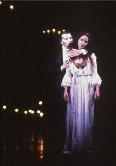 Michael Crawford and Sarah Brightman during Music of the Night. Phantom of the Opera.