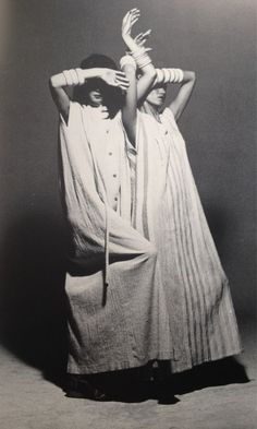 """""""Pleats Please"""" by Issey Miyake, 1980s. Photo by Irving Penn."""
