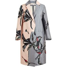 MARNI Oversized Floral Printed Cotton-Silk Coat (1,875 CAD) ❤ liked on Polyvore