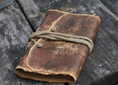Personalized rustic leather journal Medieval journal by crearting Leather Travel Journal, Leather Notebook, Leather Books, Cow Leather, Leather Craft, Custom Leather, Handmade Leather, Leather Jewelry, Journal En Cuir