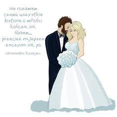 Kasandra rysuje śmieszne obrazki, memy, cytaty po polsku, o ślubie, o małżeństwie, o miłości, związki Cinderella, Disney Characters, Fictional Characters, Poems, Disney Princess, Instagram, Historia, Poetry, Verses