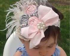 mocha blush ivory headband nude flower headband by lexicouture