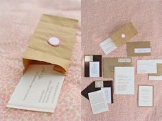 Kraft Paper Bag Invitations