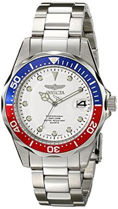 Men's Wrist Watches - Invicta Mens 17047 Pro Diver SilverTone Stainless Steel Watch ** To view further for this item, visit the image link. (This is an Amazon affiliate link)