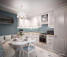 Небольшая угловая кухня в квартире на Семьи Шамшиных