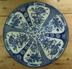 Pair Seiji Kaisha blue and white plates available from Mallingbournes on Etsy