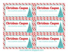 Blank Christmas Coupon Templates Printable  Jaylee Asked Me To