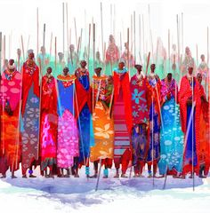 "Thanassis Tsitsikas               ""illustrated"": my Masai"