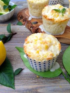 The Only Lemon Muffins Recipe you'll need. Fluffy, lemony and moist from ricotta cheese with a light lemon glaze.