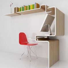 Contemporary small office space furniture.