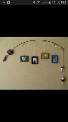 fishing pole - photo hanger
