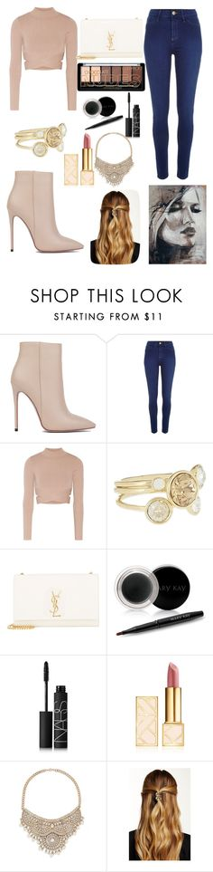 """""""Have not made a outfit for the last couple of days"""" by vanessaa2022 ❤ liked on Polyvore featuring Akira Black Label, River Island, Jonathan Simkhai, Ted Baker, Yves Saint Laurent, Mary Kay, NARS Cosmetics, Tory Burch, Bebe and Natasha Accessories"""