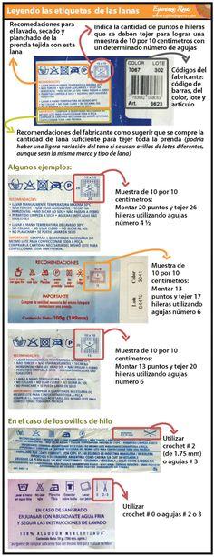 Cómo tejer en dos agujas o palitos: leyendo las etiquetas!