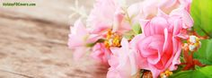Fresh Pink Spring Flowers Facebook Cover HolidayFBCovers.com
