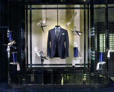 "Ermenegildo Zegna, London,""Men's Tailor Cut Suits"", pinned by Ton van der Veer"