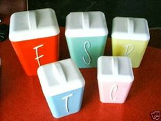 retro kitchen canisters from Gay Ware plastics.