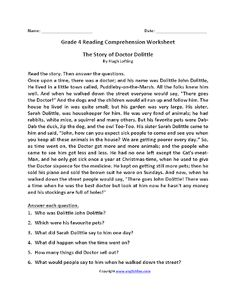 worksheet ~ Worksheet Free Printable Reading Comprehension Grade4 Math Year English Grammar Worksheets Symmetry Kids Questions And Answers For Grade Website That Solves Problems Shows Work 63 Fabulous Comprehension Worksheets Grade 4. Kids Questions, Dr Dolittle, English Grammar Worksheets, Reading Comprehension Worksheets, Question And Answer, Problem Solving, Free Printable, Names, Website