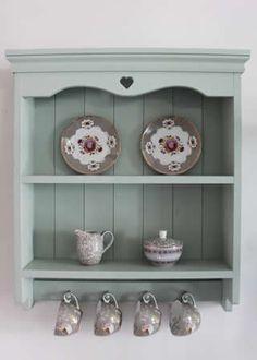 Handmade Shabby Chic Blue Painted Shelf Unit