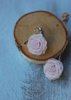 Blush earring Blush Pink Flower Lover Jewelry Pink Rose Earrings Small gift for girl Summer outdoor Blush Pink Jewelry Handmade Rose Earring