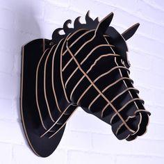 Paard sculptuur, paard het hoofd voor de wanddecoratie, mdf decoratieve, diy…