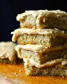 Zucchini Cake Bars with Browned Butter Frosting | Zucchini recipes are the best recipes, especially when it comes to these dessert bars!