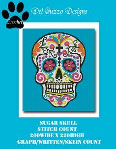 Sugar Skull Crochet Graph by DelGuzzoDesigns - Craftsy