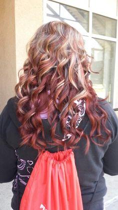Platinum Blonde Highlights Red Brown Hair Color Under
