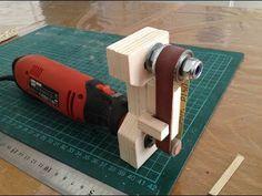 Mini Belt Sander - YouTube Dremel Tool Projects, Woodworking Projects Diy, Woodworking Jigs, Diy Wood Projects, Youtube Woodworking, Wood Tools, Diy Tools, Diy Belt Sander, Dremel Carving