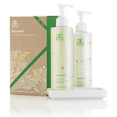 Arbonne for the Holidays makes perfect hostess gifts! I love the Merriment Duo! Cleansing rosemary leaf extract and cooling spearmint leaf oil are great to have at the kitchen sink to get rid of garlic and onion smell on your hands.