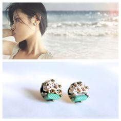 Raw Sea Coral Seafoam Green Earrings