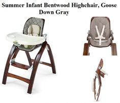Check my review on Summer Infant Bentwood Highchair in Goose Down Gray, a Compact, Comfy, Reclined and updated grow with baby wooden highchair model in cheap price.