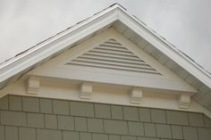 Photos showcasing some of our gable vents. Our aluminum gable vents enhance everything from starter homes to high end homes! From the smallest to the largest gable vents we do it all! Craftsman Exterior, Exterior Trim, Exterior Design, Craftsman Style, Corbels Exterior, Exterior Colors, Exterior Homes, Cottage Exterior, Gable Trim