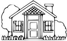 House free home clipart clip art pictures graphics illustrations 6 Cartoon Coloring Pages, Coloring Pages To Print, Coloring Book Pages, Printable Coloring Pages, Coloring Pages For Kids, Lds Clipart, Image Clipart, Free Clipart Images, Crafting