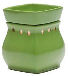 #Scentsy Classic Green Full-size Warmer  #timeless