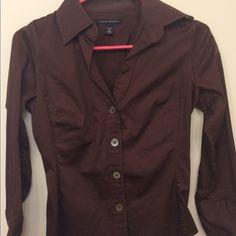 Brown button up long sleeve shirt. Banana republic button up shirt. Very good condition. Banana Republic Tops Button Down Shirts