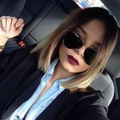 Haircut + makeup + glasses + everything