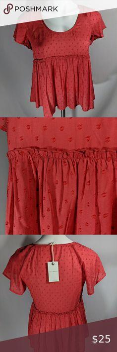 *NEW* Zara White Ribbed Sleeveless Belted Peplum Top M NWT S