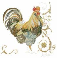 "Gallery.ru / BelleBlue - Альбом ""Домашние 2"" Rooster Cross Stitch, 123 Cross Stitch, Cross Stitch Needles, Cross Stitch Animals, Cross Stitch Charts, Cross Stitch Designs, Cross Stitch Patterns, Embroidery Art, Cross Stitch Embroidery"