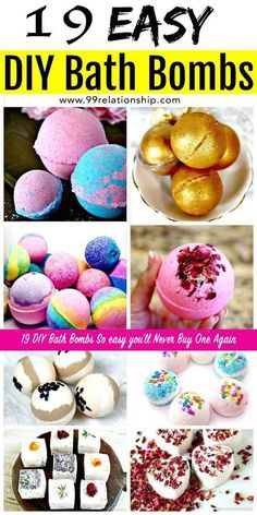 How to make easy DIY bath bombs at home? We have brought these 101 easy DIY Bath Bombs Recipe Tutorials that are all different, unique and amazing and will really turn taking bath into a big fun! Do It Yourself Crafts, Crafts To Make, Easy Crafts, Diy Crafts Easy At Home, Easy Diys For Kids, Diy Crafts For Girls, Diy Arts And Crafts, Kids Diy, Kids Crafts